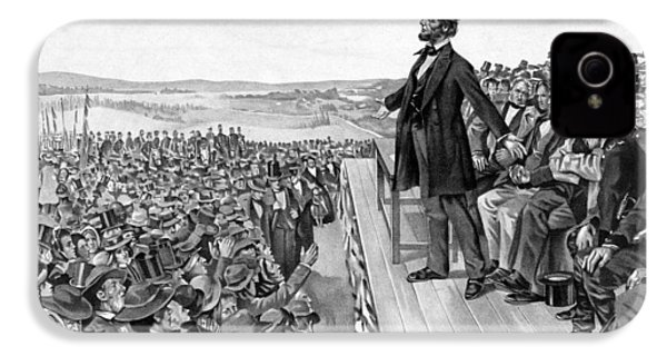 Lincoln Delivering The Gettysburg Address IPhone 4 / 4s Case by War Is Hell Store
