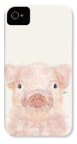 Little Pig IPhone 4 / 4s Case by Bri B