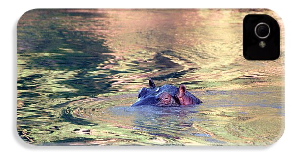 Lonely Hippo IPhone 4 / 4s Case by Sebastian Musial