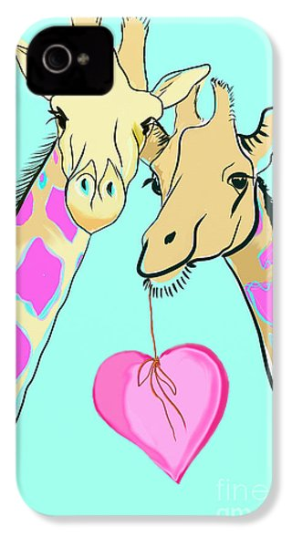 Long Neck Love IPhone 4 / 4s Case by Susie Cunningham