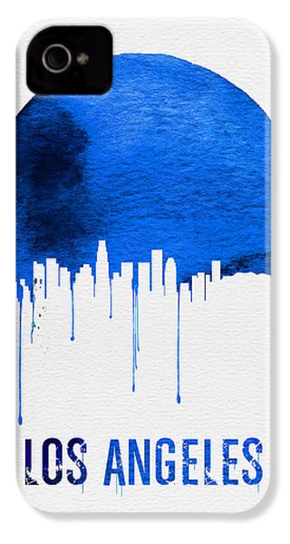Los Angeles Skyline Blue IPhone 4 / 4s Case by Naxart Studio