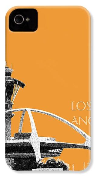 Los Angeles Skyline Lax Spider - Orange IPhone 4 / 4s Case by DB Artist