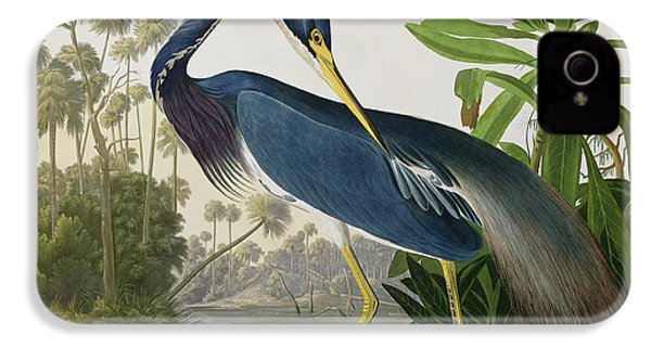 Louisiana Heron IPhone 4 / 4s Case by John James Audubon