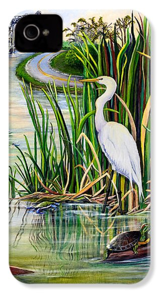 Louisiana Wetlands IPhone 4 / 4s Case by Elaine Hodges
