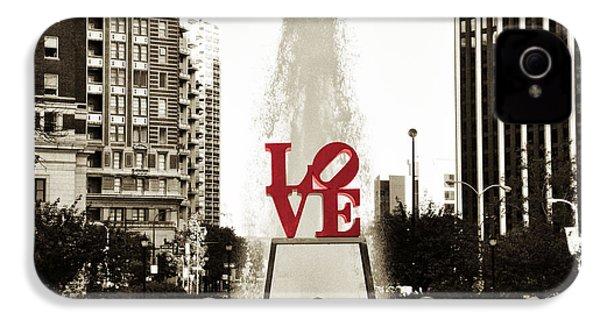 Love In Philadelphia IPhone 4 / 4s Case by Bill Cannon