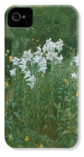 Madonna Lilies In A Garden IPhone 4 / 4s Case by Walter Crane