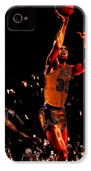 Magic Johnson Lean Back II IPhone 4 / 4s Case by Brian Reaves