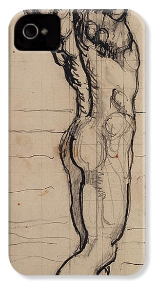 Male Act   Study For The Truth IPhone 4 / 4s Case by Ferdninand Hodler
