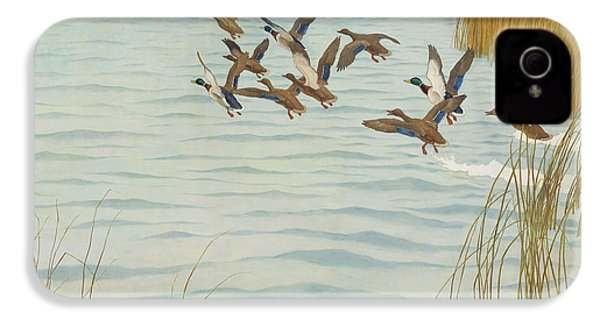 Mallards In Autumn IPhone 4 / 4s Case by Newell Convers Wyeth