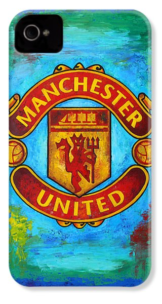 Manchester United Vintage IPhone 4 / 4s Case by Dan Haraga