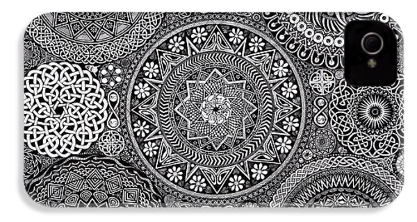Mandala Bouquet IPhone 4 / 4s Case by Matthew Ridgway
