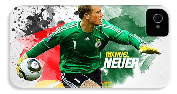 Manuel Neuer IPhone 4 / 4s Case by Semih Yurdabak