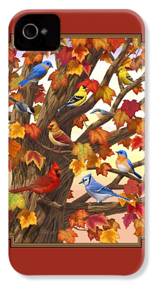 Maple Tree Marvel - Bird Painting IPhone 4 / 4s Case by Crista Forest