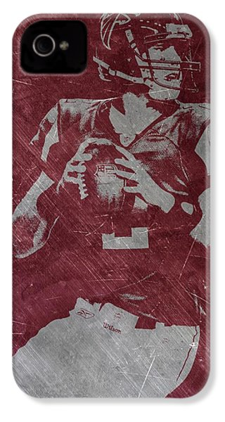 Matt Ryan Atlanta Falcons IPhone 4 / 4s Case by Joe Hamilton