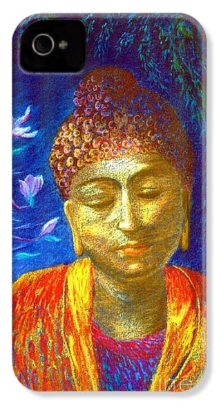 Meeting With Buddha IPhone 4 / 4s Case by Jane Small