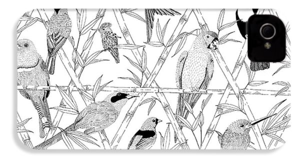 Menagerie Black And White IPhone 4 / 4s Case by Jacqueline Colley