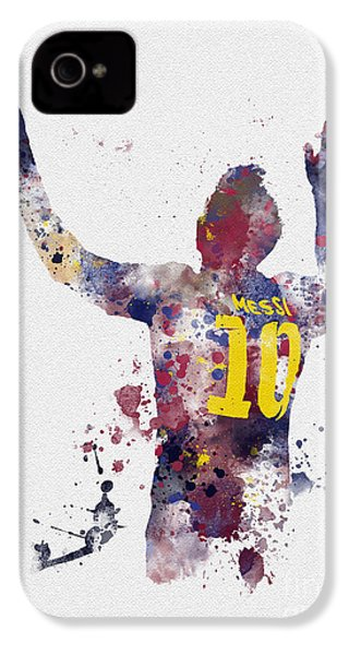 Messi IPhone 4 / 4s Case by Rebecca Jenkins