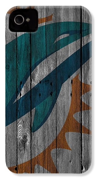 Miami Dolphins Wood Fence IPhone 4 / 4s Case by Joe Hamilton