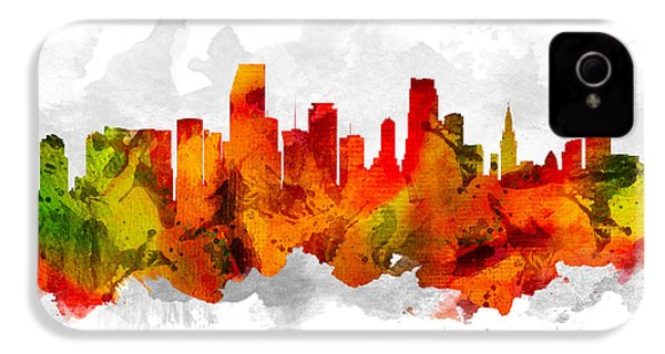 Miami Florida Cityscape 15 IPhone 4 / 4s Case by Aged Pixel