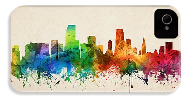 Miami Florida Skyline 05 IPhone 4 / 4s Case by Aged Pixel