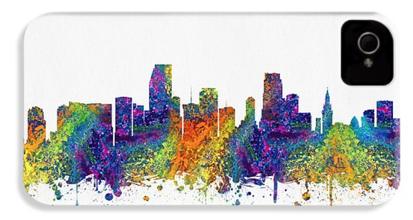 Miami Florida Skyline Color03 IPhone 4 / 4s Case by Aged Pixel