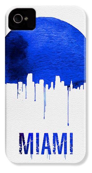Miami Skyline Blue IPhone 4 / 4s Case by Naxart Studio