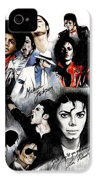 Michael Jackson - King Of Pop IPhone 4 / 4s Case by Lin Petershagen