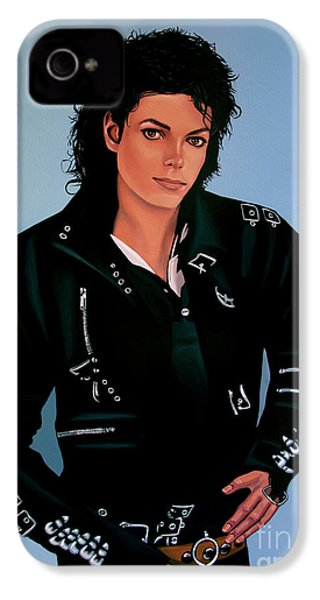 Michael Jackson Bad IPhone 4 / 4s Case by Paul Meijering