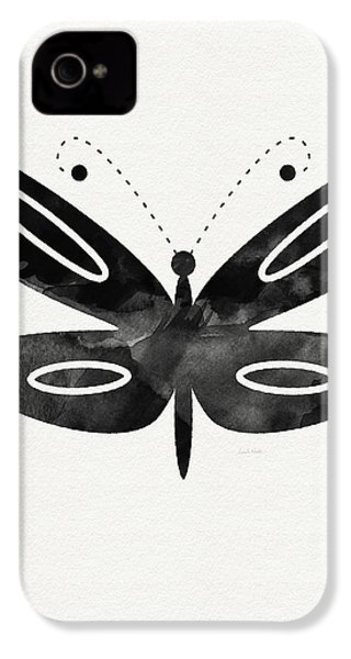 Midnight Butterfly 1- Art By Linda Woods IPhone 4 / 4s Case by Linda Woods