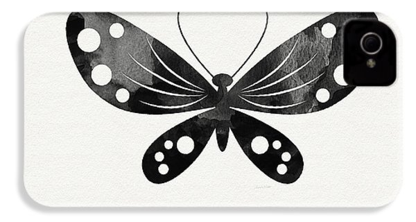 Midnight Butterfly 3- Art By Linda Woods IPhone 4 / 4s Case by Linda Woods