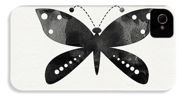 Midnight Butterfly 4- Art By Linda Woods IPhone 4 / 4s Case by Linda Woods