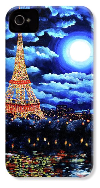 Midnight In Paris IPhone 4 / 4s Case by Laura Iverson