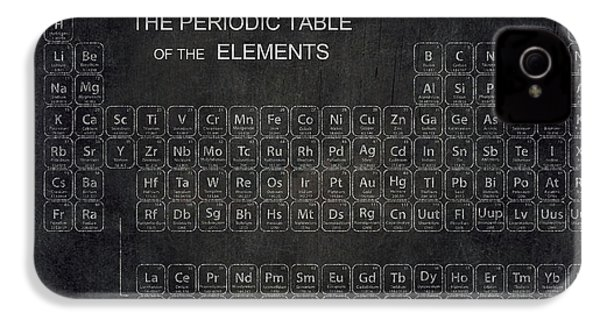 Minimalist Periodic Table IPhone 4 / 4s Case by Daniel Hagerman