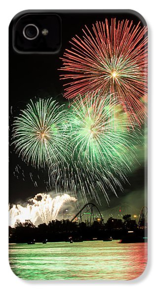 Montreal-fireworks IPhone 4 / 4s Case by Mircea Costina Photography