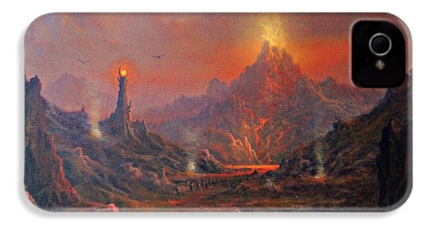 Mordor Land Of Shadow IPhone 4 / 4s Case by Joe Gilronan