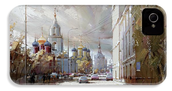 Moscow. Varvarka Street. IPhone 4 / 4s Case by Ramil Gappasov