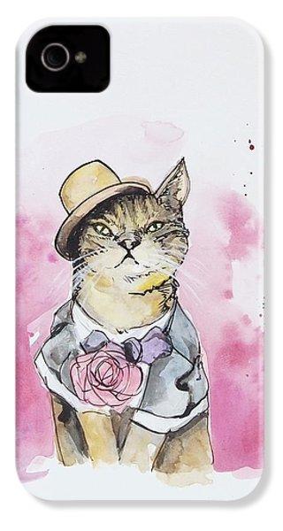 Mr Cat In Costume IPhone 4 / 4s Case by Venie Tee