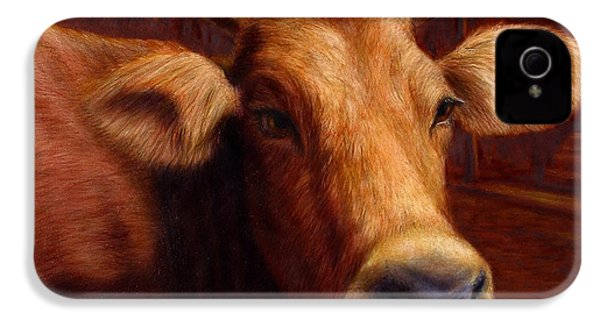 Mrs. O'leary's Cow IPhone 4 / 4s Case by James W Johnson