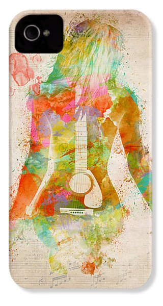 Music Was My First Love IPhone 4 / 4s Case by Nikki Marie Smith