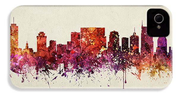 Nashville Cityscape 09 IPhone 4 / 4s Case by Aged Pixel