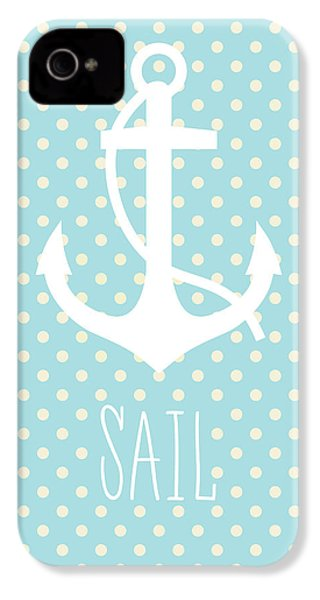 Nautical Anchor Art Print IPhone 4 / 4s Case by Taylan Apukovska
