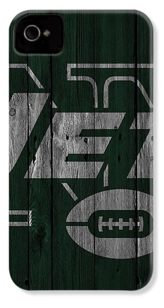 New York Jets Wood Fence IPhone 4 / 4s Case by Joe Hamilton