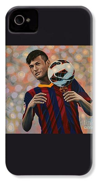 Neymar IPhone 4 / 4s Case by Paul Meijering