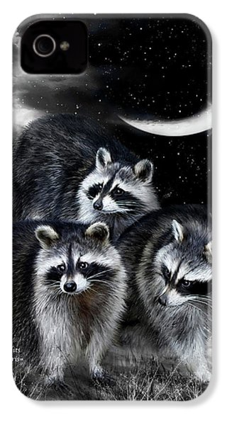 Night Bandits IPhone 4 / 4s Case by Carol Cavalaris
