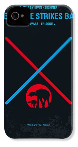 No155 My Star Wars Episode V The Empire Strikes Back Minimal Movie Poster IPhone 4 / 4s Case by Chungkong Art