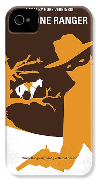 No202 My The Lone Ranger Minimal Movie Poster IPhone 4 / 4s Case by Chungkong Art