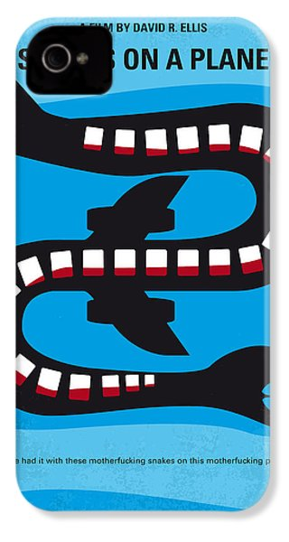 No501 My Snakes On A Plane Minimal Movie Poster IPhone 4 / 4s Case by Chungkong Art