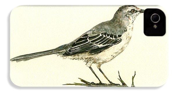 Northern Mockingbird IPhone 4 / 4s Case by Juan  Bosco