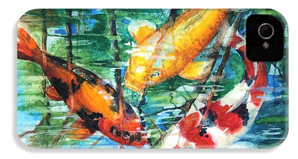 November Koi IPhone 4 / 4s Case by Patricia Allingham Carlson