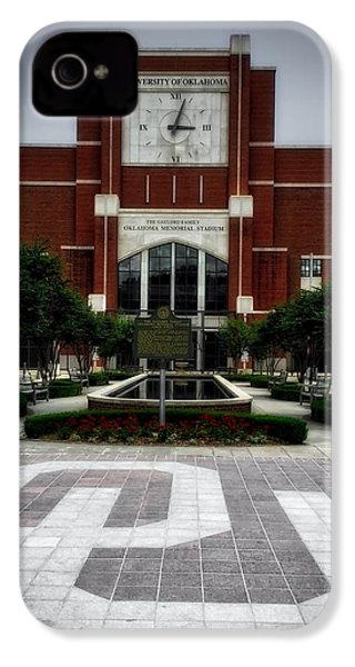 Oklahoma Memorial Stadium IPhone 4 / 4s Case by Center For Teaching Excellence